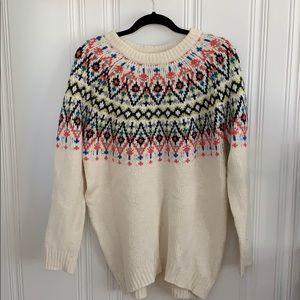 Aerie Fair Isle tunic sweater sz small